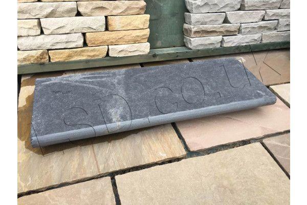 Indian Limestone Bullnosed Steps - Kota Black Midnight - 1000 x 350mm - Individual