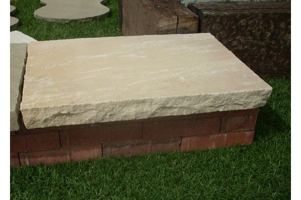 Natural Indian Sandstone Copings - Mint Fossil - Individual