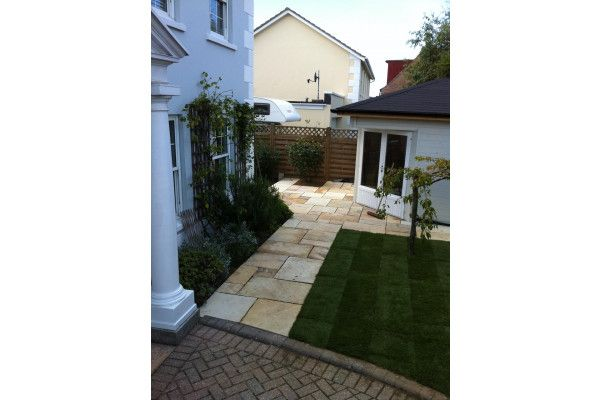 Indian Sandstone Paving - Mint Fossil 2
