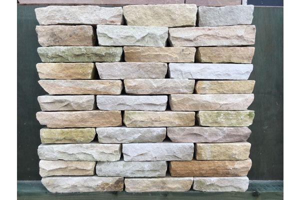 Indian Sandstone Walling - Hand Cut - Mint Blocks (Individual Blocks)