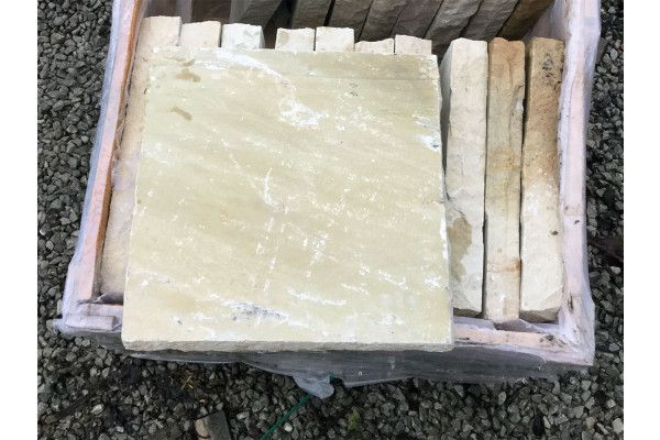 Natural Indian Sandstone - Mint Fossil - Walling Pier Caps (Individual Caps)