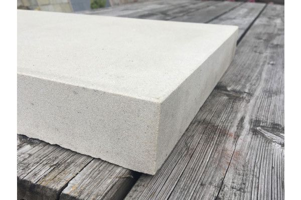 Natural Indian Sandstone - Smooth Polished Mint (Cream) - Walling Pier Caps