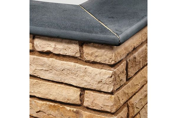 Natural Paving - Bullnose Steps / Copings - Carbon Black - 600 x 300mm