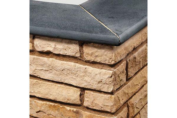 Natural Paving - Bullnose Steps / Copings - Carbon Black - 600 x 300mm - Individual