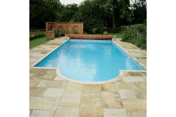 Natural Paving - Classicstone - Golden Fossil - Circles