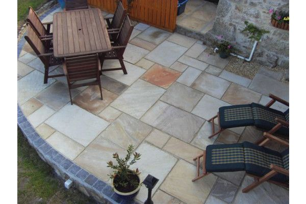 Natural Paving - Classicstone - Calibrated - Golden Fossil - Single Sizes (Individual Slabs)