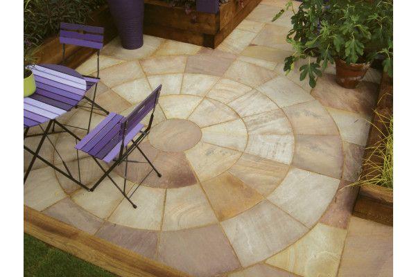 Natural Paving - Classicstone - Heather - Circles