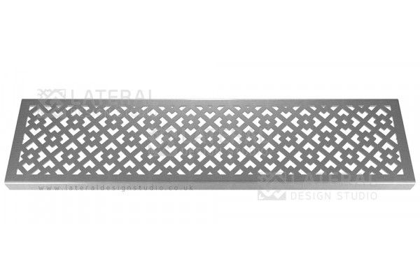 Aquascape - Drainage Channel Cover - Stainless Steel Grate - Oblique