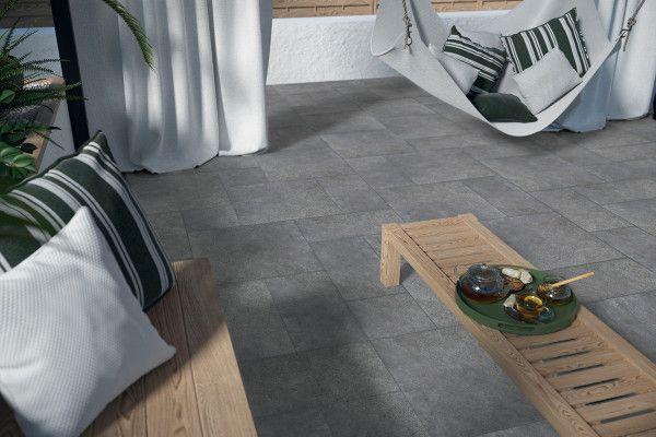 Porcelain Paving Tiles - Optimal Collection - Graphite - Single Sizes