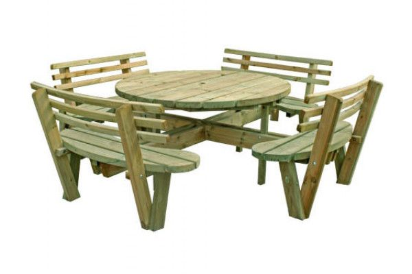 garden table with seat backs cheap garden furniture at