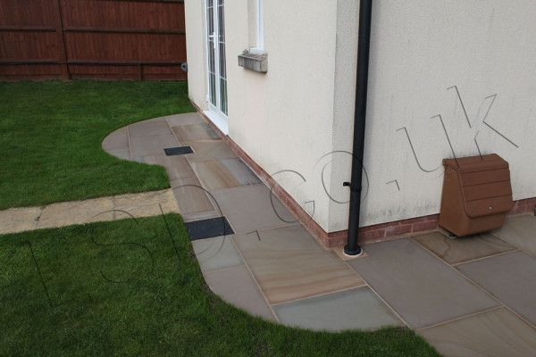 Indian Sandstone Paving - Polished Rippon Buff - Patio Packs