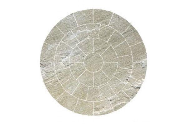 Bradstone - Natural Sandstone Paving - Fossil Buff - Circles