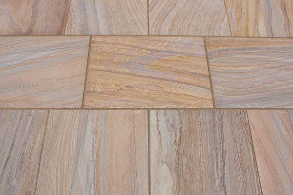 Castacrete Sawn And Honed Rainbow Sandstone Paving Honed
