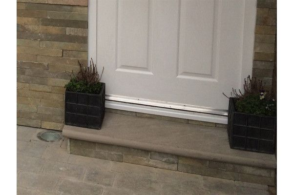 Indian Sandstone Bullnosed Steps and Corners - Riven Raj Green 2