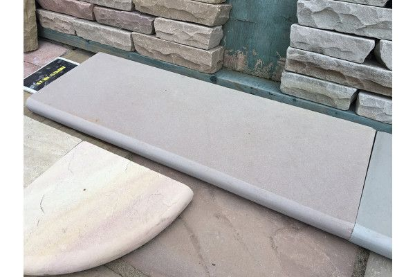 Indian Sandstone Steps - Polished Raj Green - Step Tread - 1000 x 350mm