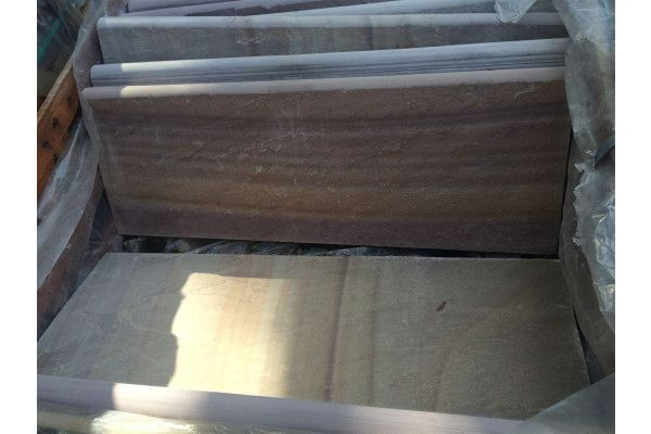 Indian Sandstone Bullnosed Steps and Corners - Riven Rippon Buff