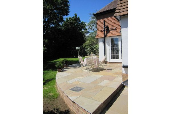 Indian Sandstone Paving - Camel 4