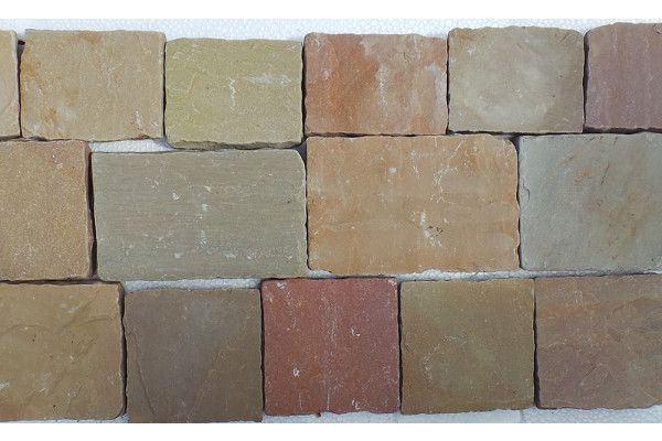Indian Sandstone Cobbles - Tumbled Rippon Buff - Mixed Project Pack