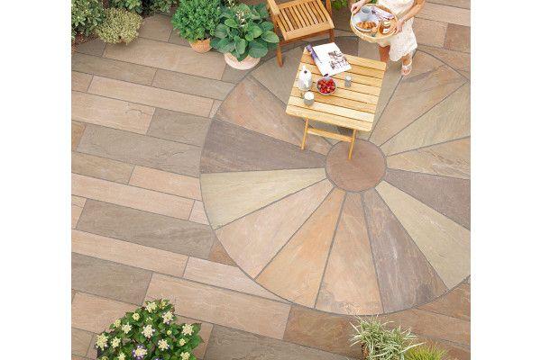 Marshalls - Fairstone Riven Harena Linear Garden Paving - Golden Sand Multi - Project Pack