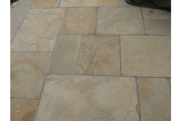 Indian Limestone Paving - Sandur Yellow - Patio Pack