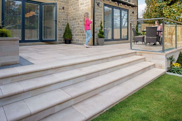 Marshalls Fairstone Sawn Steps Caramel Cream Affordable