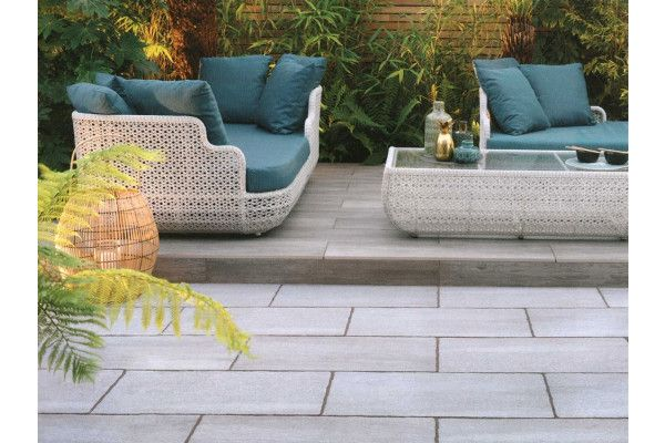 Stonemarket - Foro Vitrified Paving - Platinum - 800 x 400mm