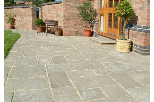 Courtyard Paving - Old Grey - Circle and Squaring Off Kit
