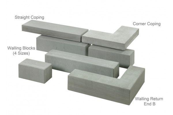 Stonemarket - Avant Garde Walling - Silver - Copings (Individual Copings)