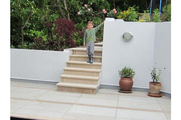 Stonemarket - Avant Garde Steps - Caramel - Step Tread - Individual