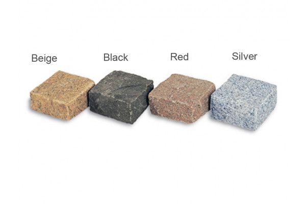 Stonemarket - Granite Setts - Black - 110 x 110 x 50mm - Individual