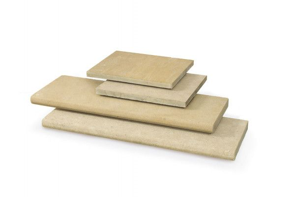 Stonemarket - Namera Limestone Paving - Tala Sand - Step Tread
