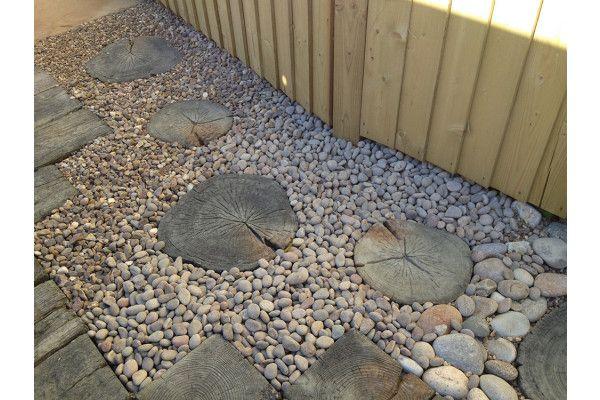 Stonemarket - Timberstone - Driftwood - Log Stepping Stone - Individual