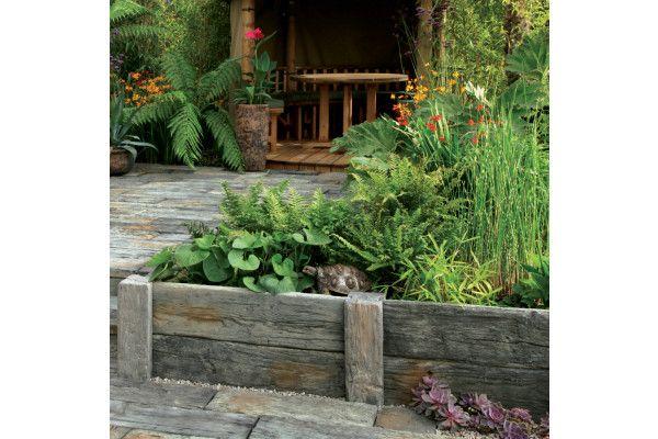 Stonemarket - Timberstone - Driftwood - Sleeper Edgings and Posts (Individual Edgings)