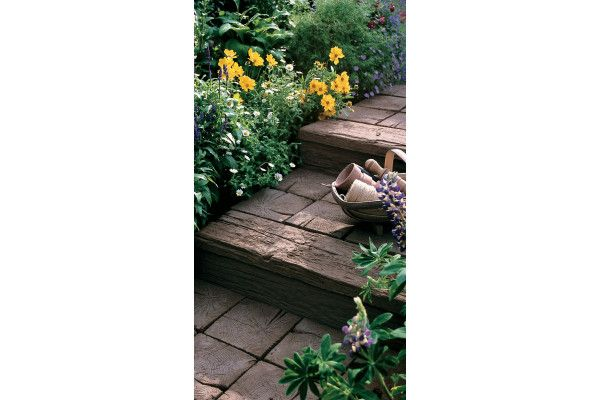 Stonemarket - Timberstone - Coppice Brown - Sleepers (Individual Edgings)