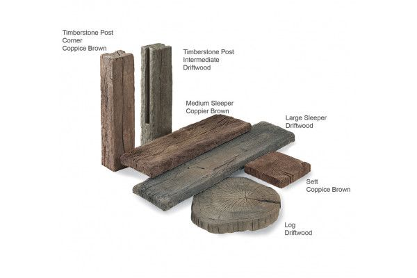 Stonemarket - Timberstone - Driftwood - Sleepers (Individual Slabs)