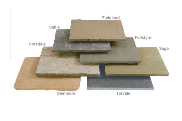 Stonemarket - Trustone Paving - Sawn Edge - Glenmoor - Single Sizes (Individual Slabs)