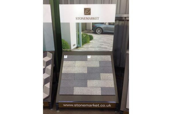 Stonemarket - Vecta Linear Paving - Charcoal and Silver Grey