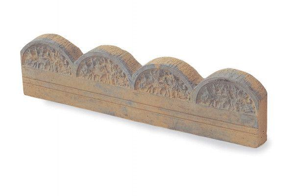 Stonemarket - Yorkstone Scalloped Edging - Weathered Bronze - 600 x 150 x 45mm - Individual