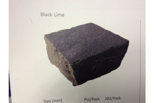 Strata Stones - Limestone Setts - Black Lime - 100 x 100mm