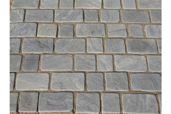 Strata Stones - Block Paving - Pave Setts - Mixed Pack - Charcoal