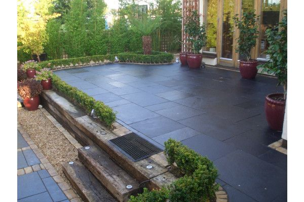 Strata Stones - Whitchurch Limestone Collection - Black Lime - Patio Packs