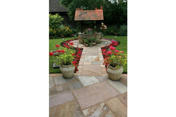 Strata Stones - Whitchurch Sandstone Collection - Camel - Patio Packs