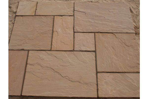 Strata Stones - Whitchurch Sandstone Collection - Golden - Patio Packs
