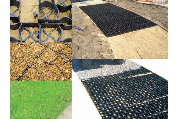 Aggregate Matting - Plastic Porous Paving Gridding System - SUDS Compliant