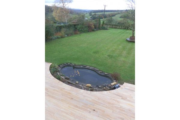 Indian Sandstone Paving - Polished Teak - Patio Pack