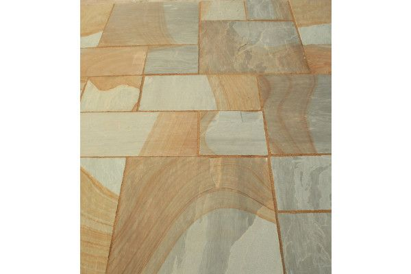 Indian Sandstone Paving - Two Tone - Patio Pack - Calibrated