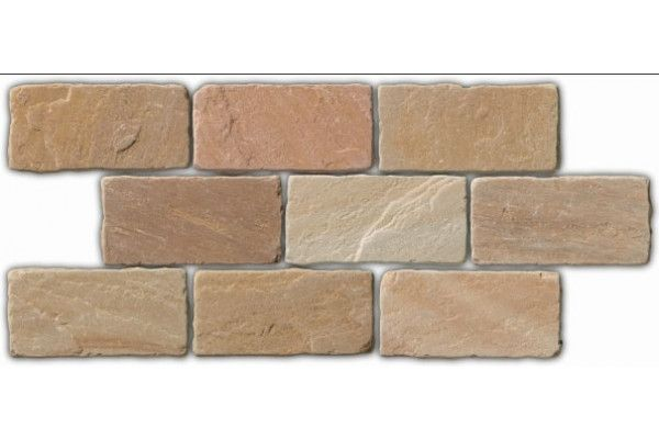 Global Stone - Old Rectory - Cobbles - Buff Brown - Circle