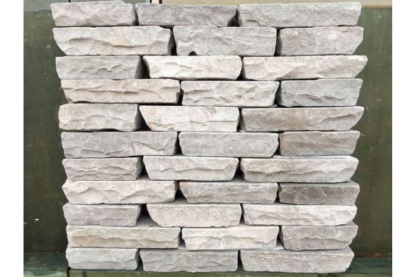 Indian Sandstone Walling - Tumbled - Kandla Grey Blocks - (Individual Blocks)