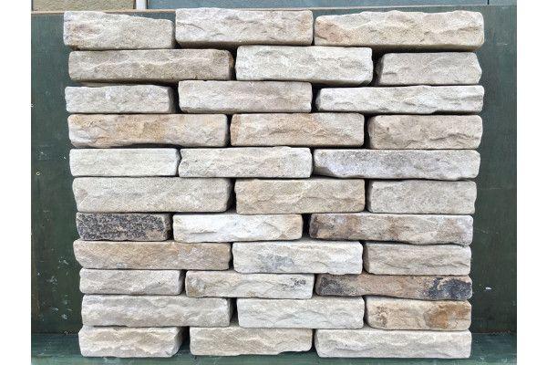 Indian Sandstone Walling - Tumbled - Mint Blocks - (Individual Blocks)