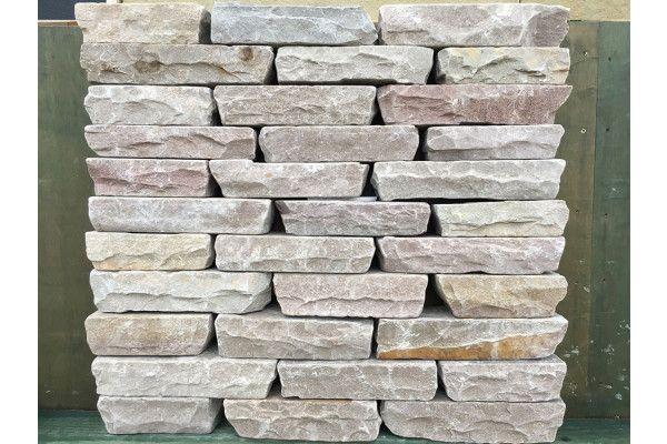 Indian Sandstone Walling - Tumbled - Raj Blocks - (Individual Blocks)